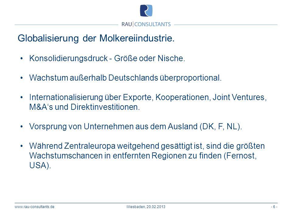 Globalisierung der Molkereiindustrie.