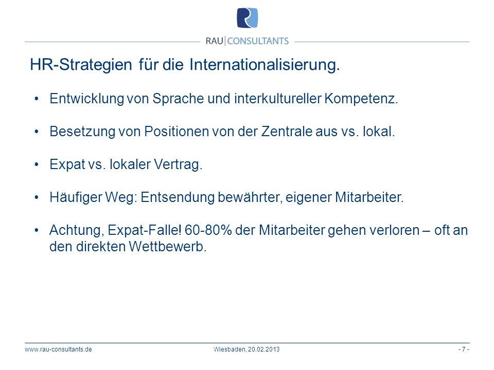 HR-Strategien für die Internationalisierung.