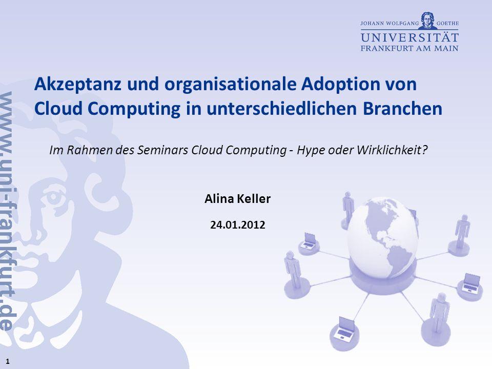 Akzeptanz und organisationale Adoption von Cloud Computing in unterschiedlichen Branchen