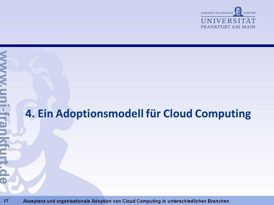 4. Ein Adoptionsmodell für Cloud Computing
