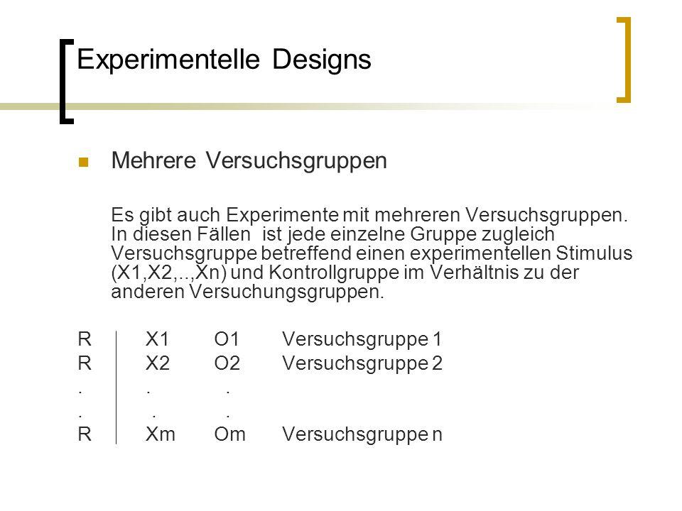 Experimentelle Designs