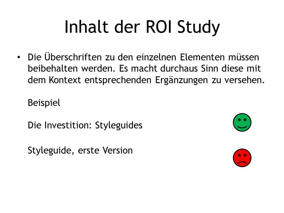 Inhalt der ROI Study