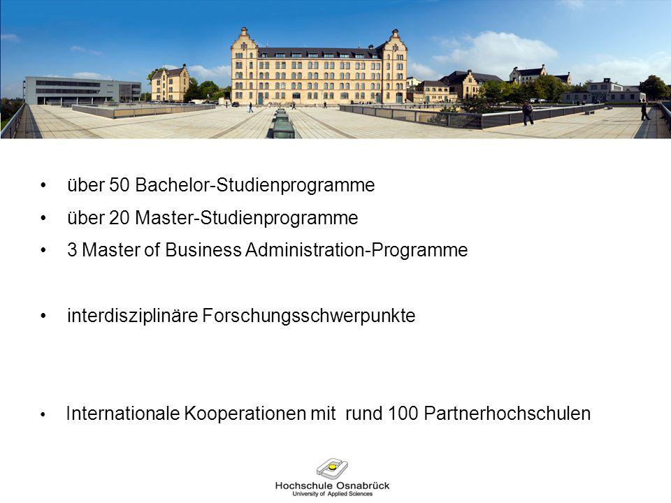 über 50 Bachelor-Studienprogramme über 20 Master-Studienprogramme