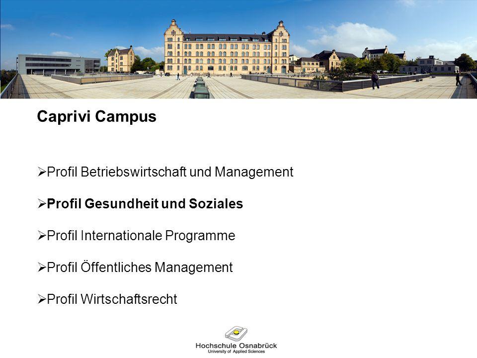 Caprivi Campus Profil Betriebswirtschaft und Management