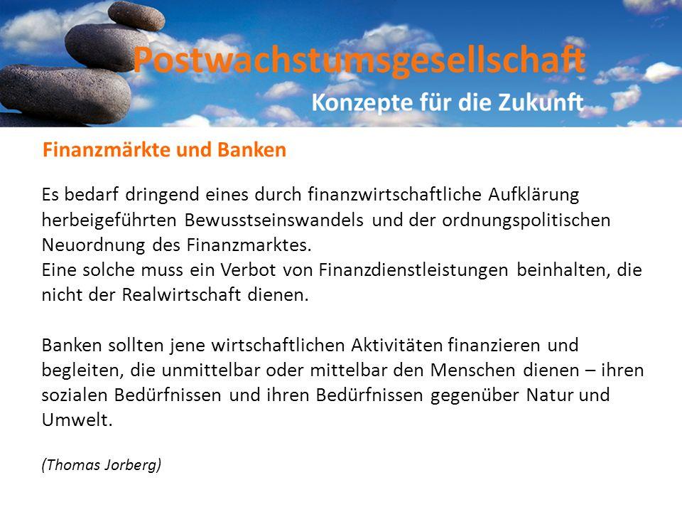 Finanzmärkte und Banken