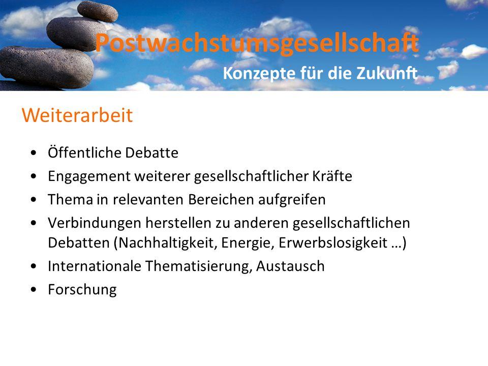 Weiterarbeit Öffentliche Debatte