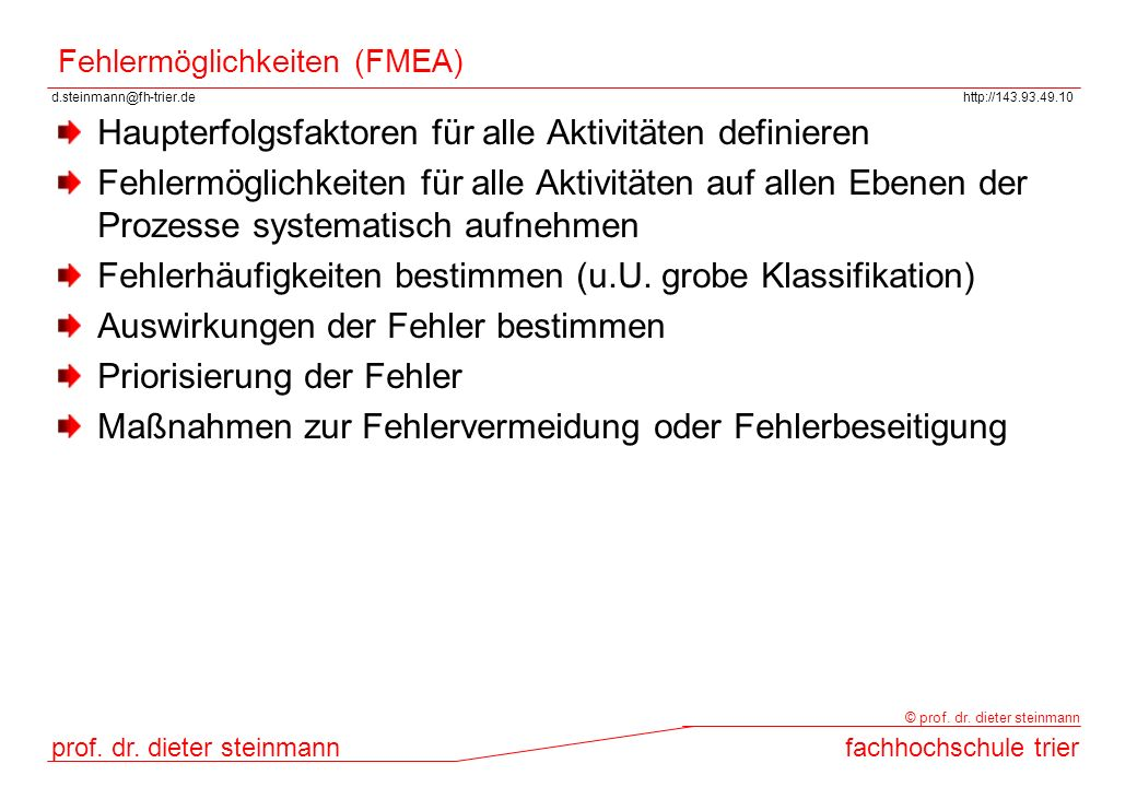 Fehlermöglichkeiten (FMEA)