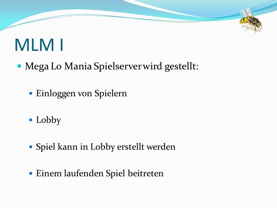 MLM I Mega Lo Mania Spielserver wird gestellt: Einloggen von Spielern
