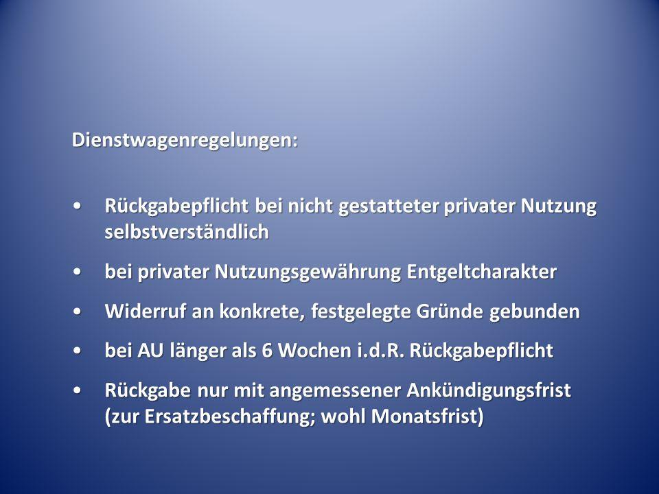 Dienstwagenregelungen: