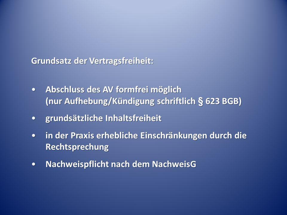 Grundsatz der Vertragsfreiheit: