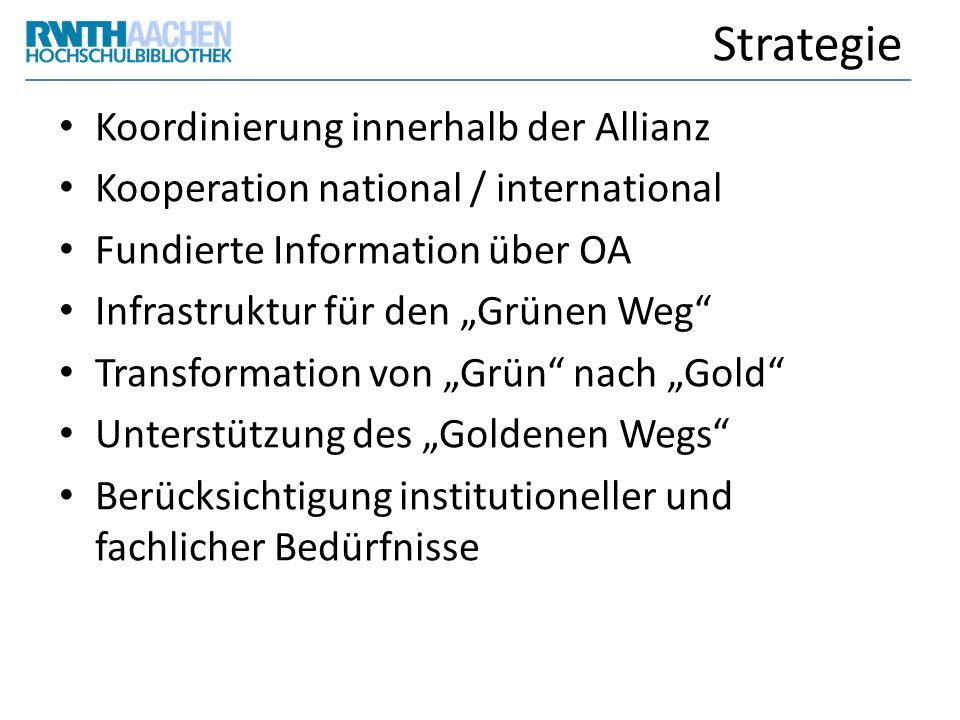 Strategie Koordinierung innerhalb der Allianz