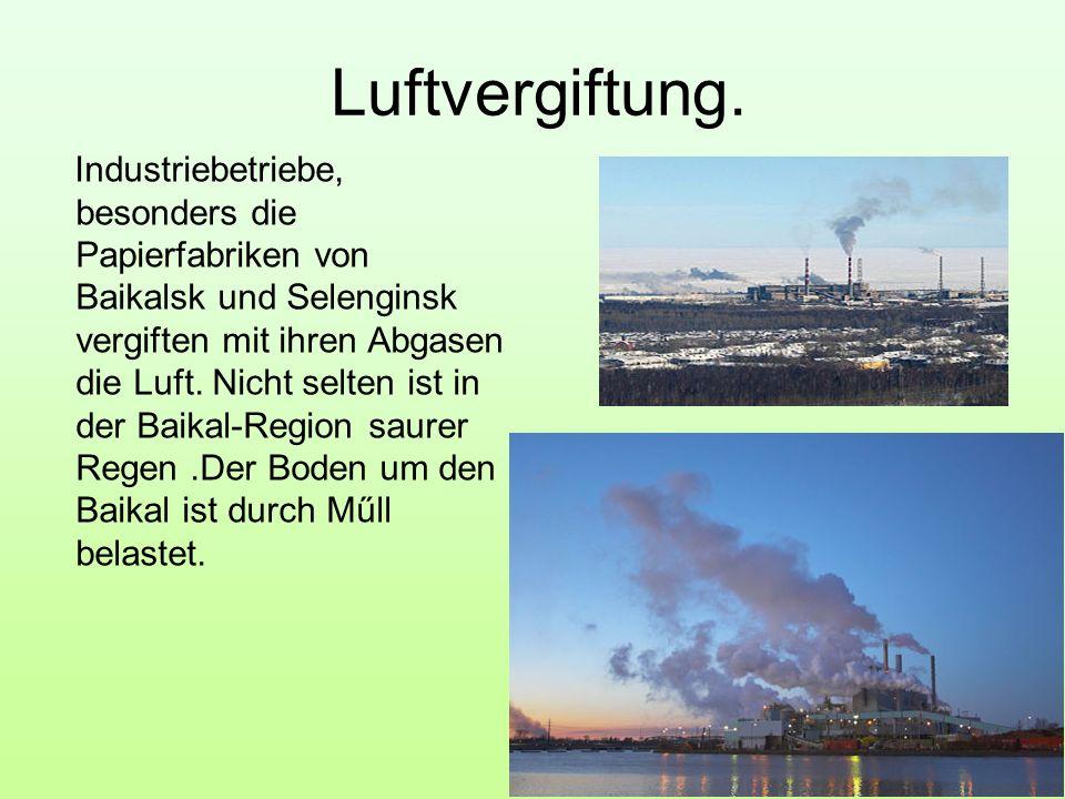 Luftvergiftung.