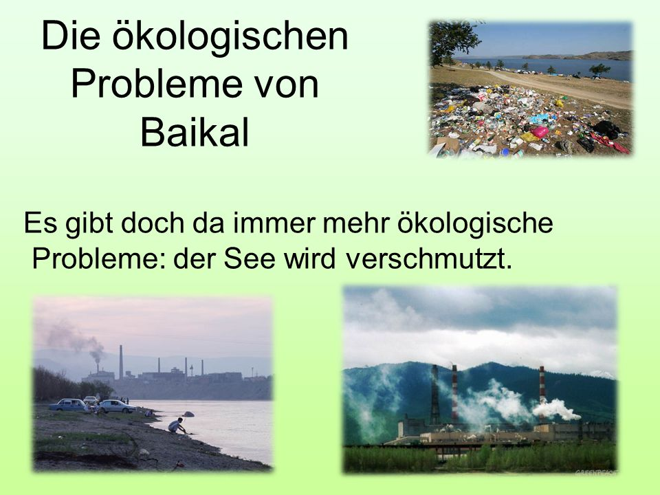 Die ökologischen Probleme von Baikal