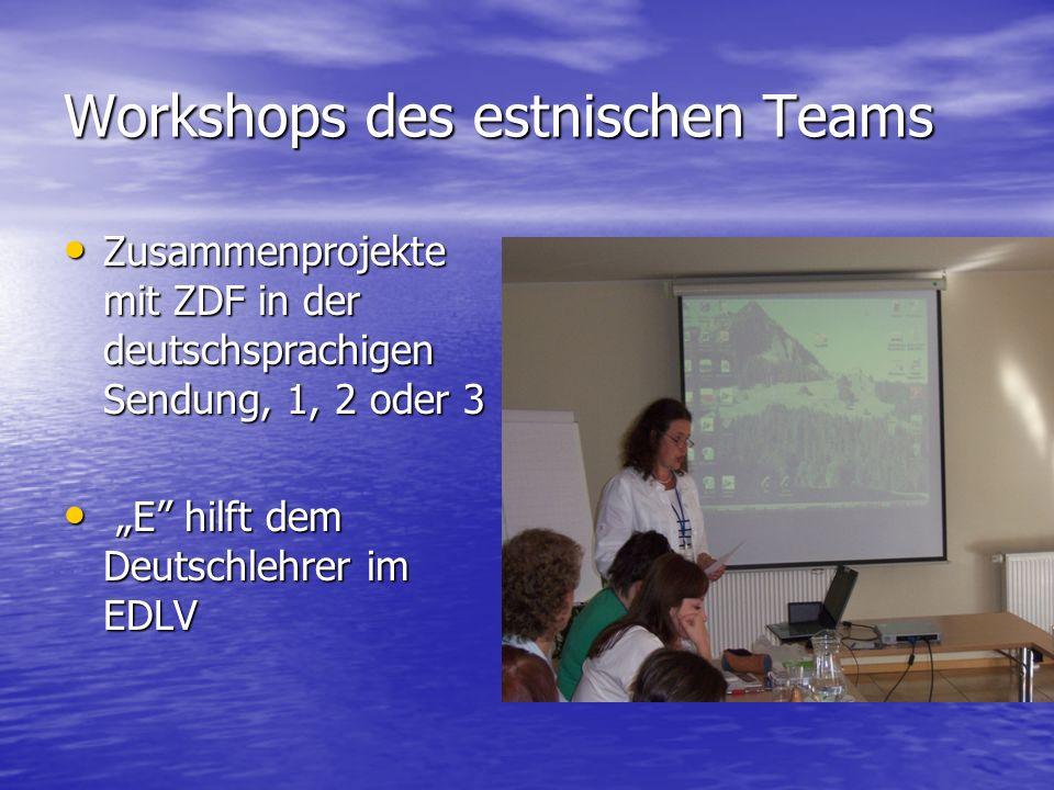 Workshops des estnischen Teams