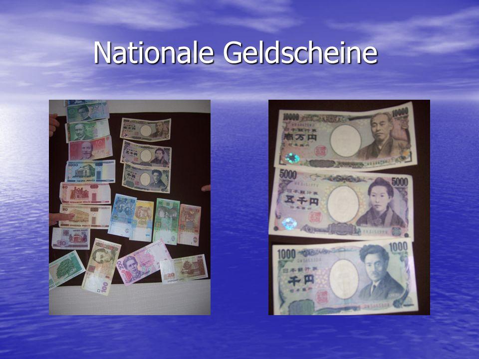 Nationale Geldscheine