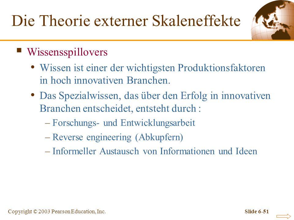 Die Theorie externer Skaleneffekte