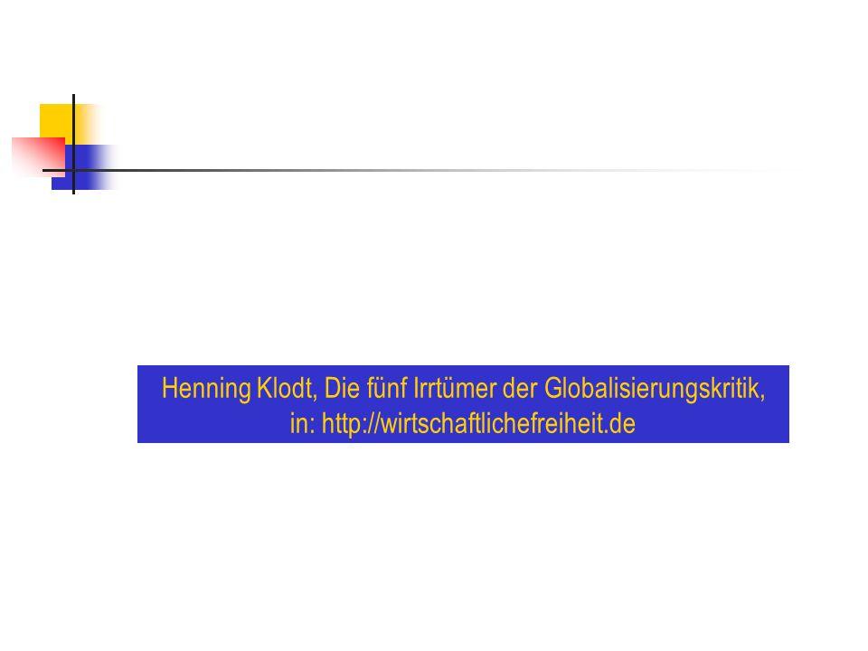 Henning Klodt, Die fünf Irrtümer der Globalisierungskritik,