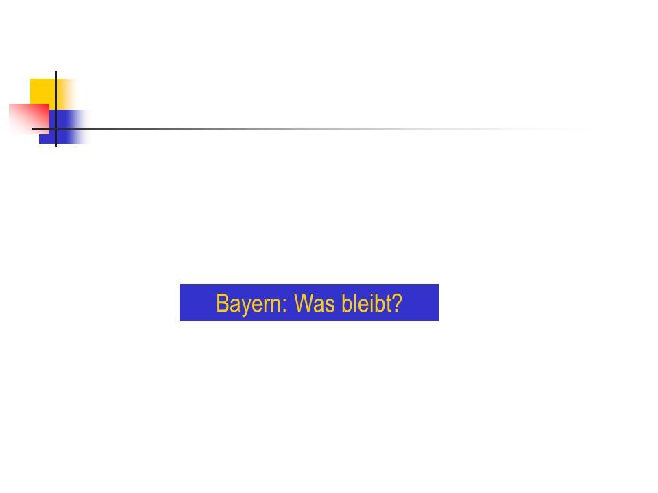 Bayern: Was bleibt
