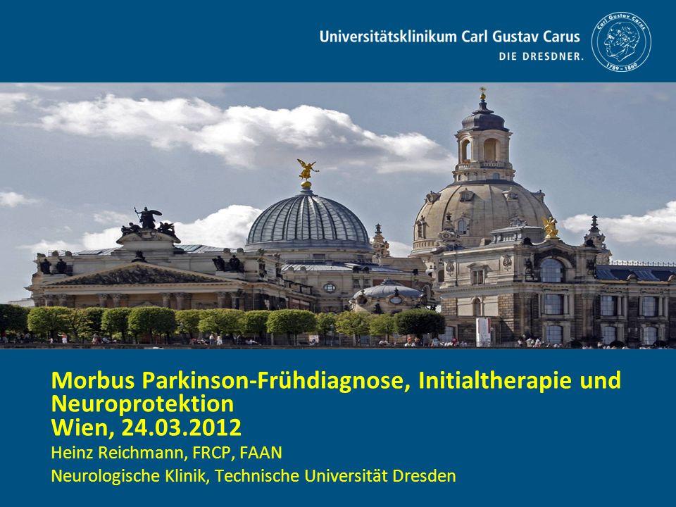 Morbus Parkinson-Frühdiagnose, Initialtherapie und Neuroprotektion