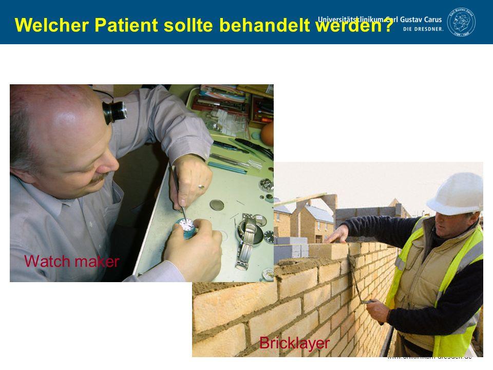 Welcher Patient sollte behandelt werden