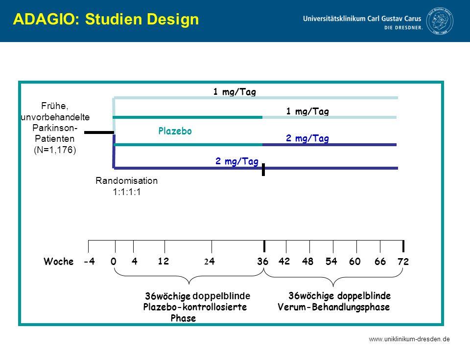 ADAGIO: Studien Design