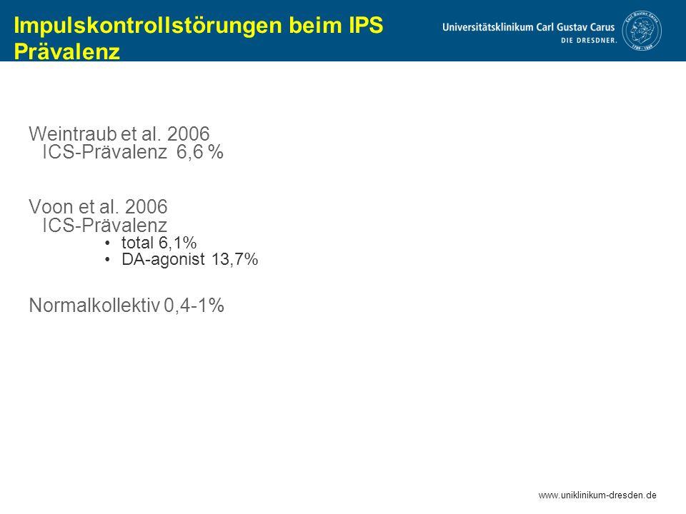 Impulskontrollstörungen beim IPS Prävalenz