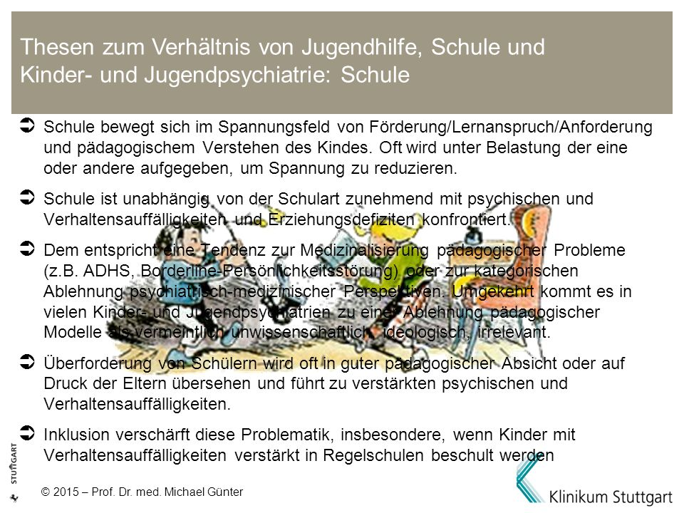 Thesen zum Verhältnis von Jugendhilfe, Schule und Kinder- und Jugendpsychiatrie: Schule