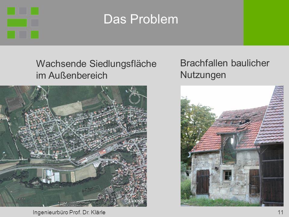 Das Problem Wachsende Siedlungsfläche im Außenbereich