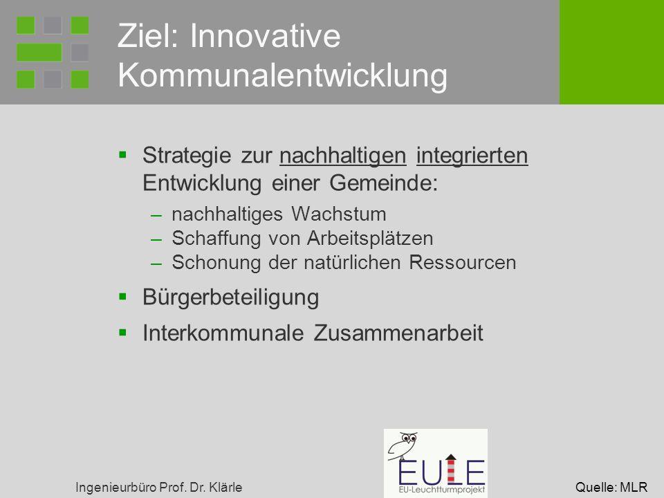 Ziel: Innovative Kommunalentwicklung