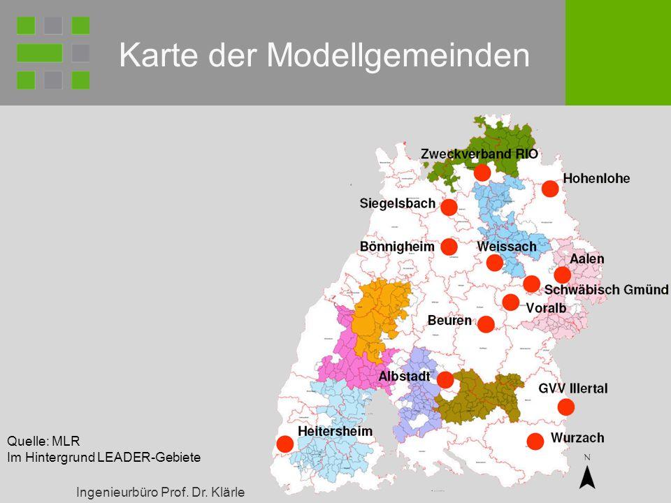 Karte der Modellgemeinden