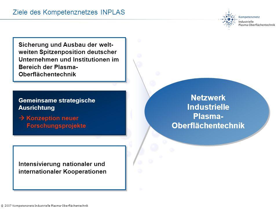 Ziele des Kompetenznetzes INPLAS