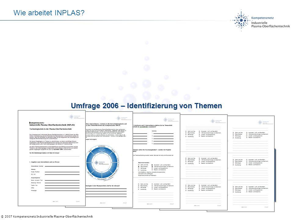 Umfrage 2006 – Identifizierung von Themen