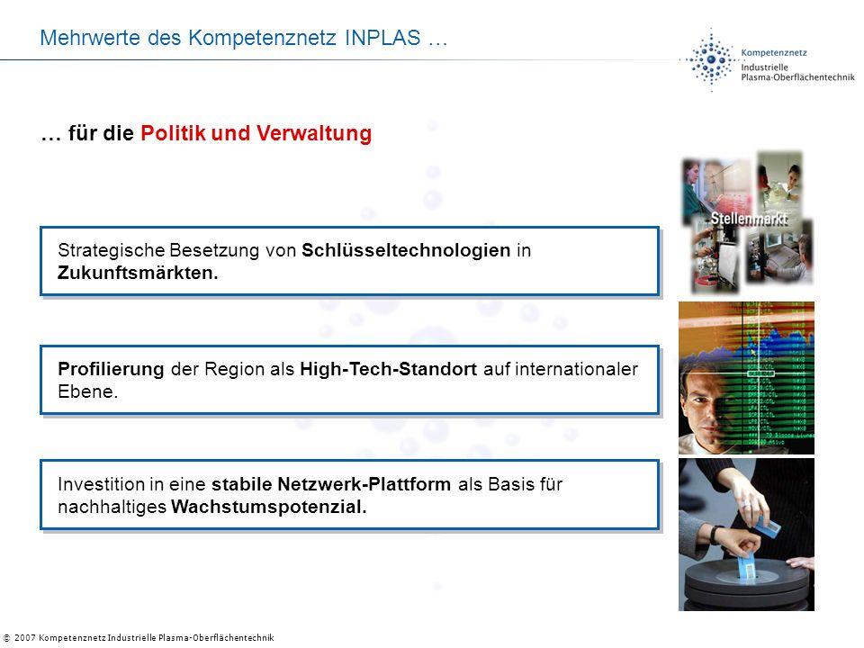 Mehrwerte des Kompetenznetz INPLAS …