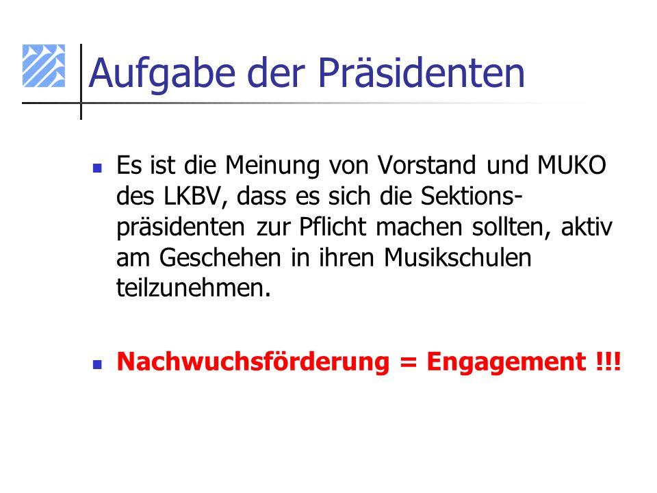Aufgabe der Präsidenten