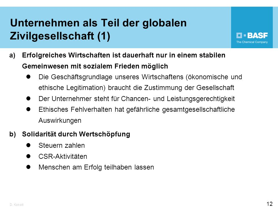 Unternehmen als Teil der globalen Zivilgesellschaft (1)
