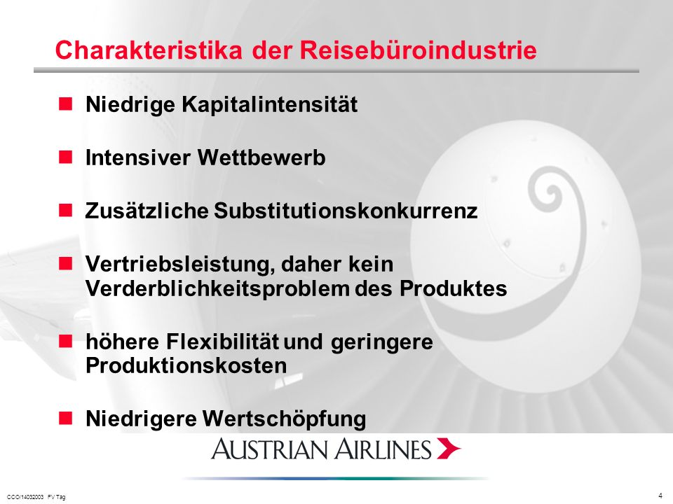Charakteristika der Reisebüroindustrie