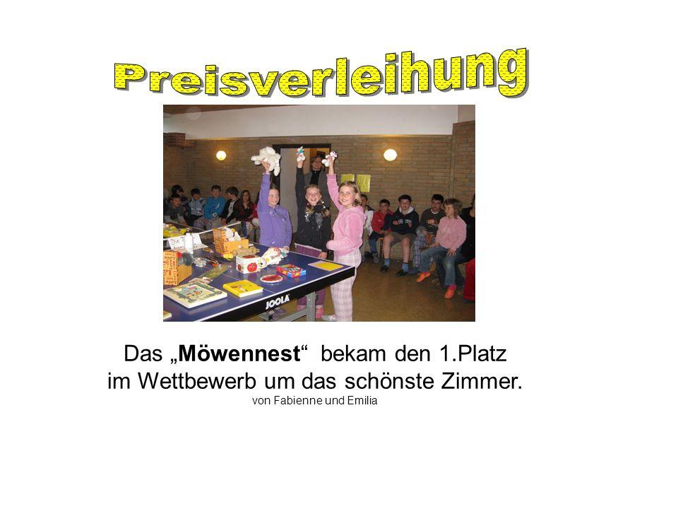 "Preisverleihung Das ""Möwennest bekam den 1.Platz"