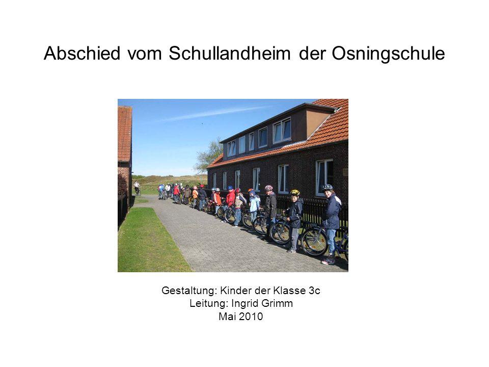 Abschied vom Schullandheim der Osningschule