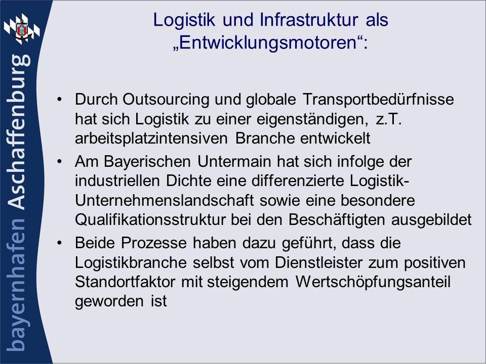 """Logistik und Infrastruktur als """"Entwicklungsmotoren :"""