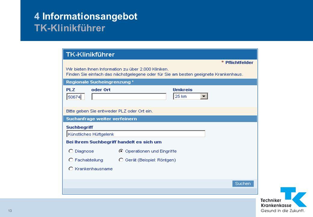4 Informationsangebot TK-Klinikführer