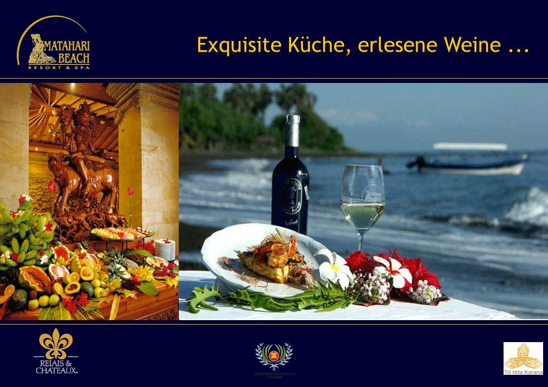Exquisite Küche, erlesene Weine ...