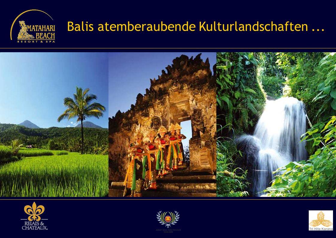 Balis atemberaubende Kulturlandschaften ...