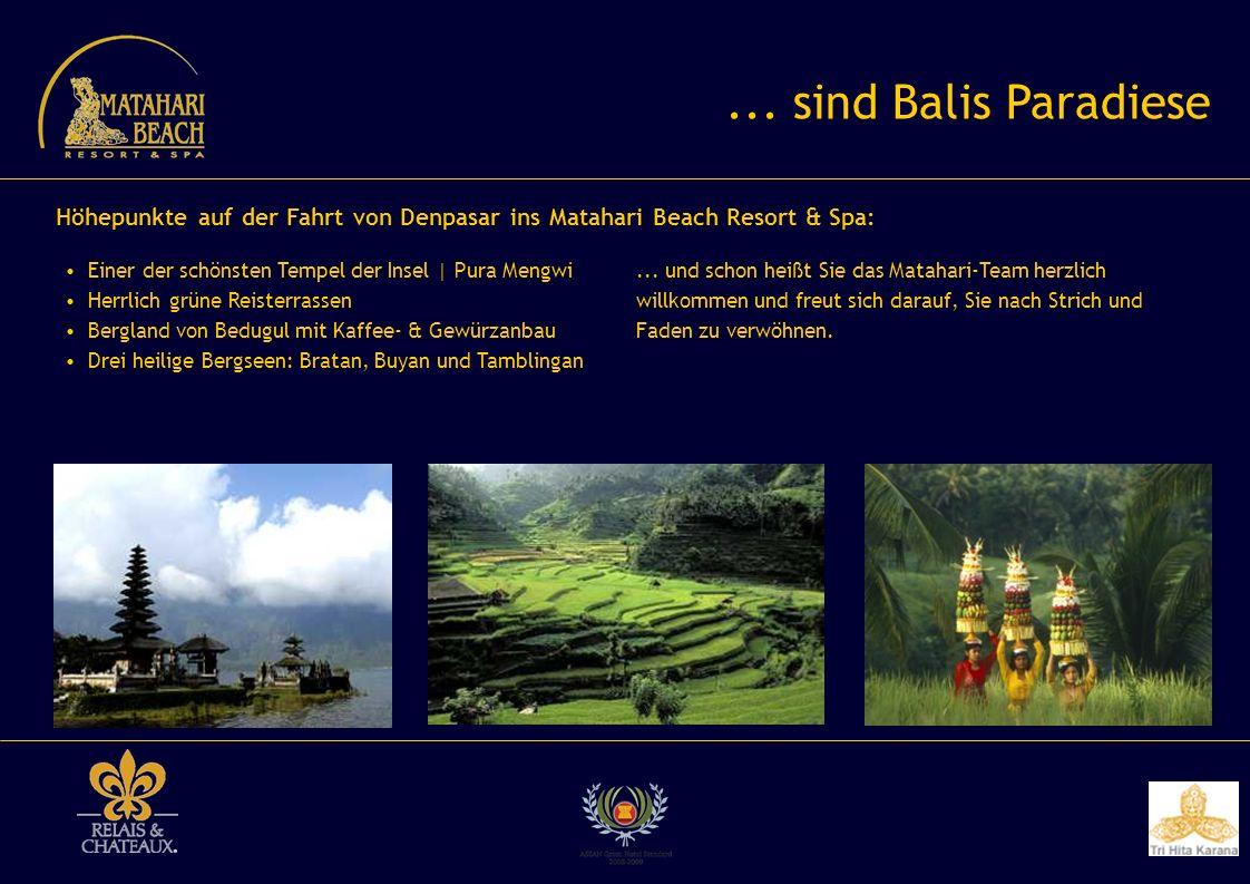 ... sind Balis Paradiese Höhepunkte auf der Fahrt von Denpasar ins Matahari Beach Resort & Spa: Einer der schönsten Tempel der Insel | Pura Mengwi.