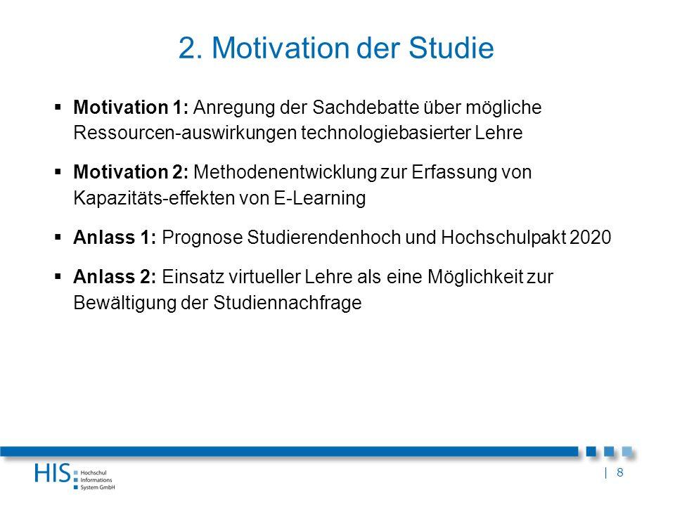 2. Motivation der Studie Motivation 1: Anregung der Sachdebatte über mögliche Ressourcen-auswirkungen technologiebasierter Lehre.
