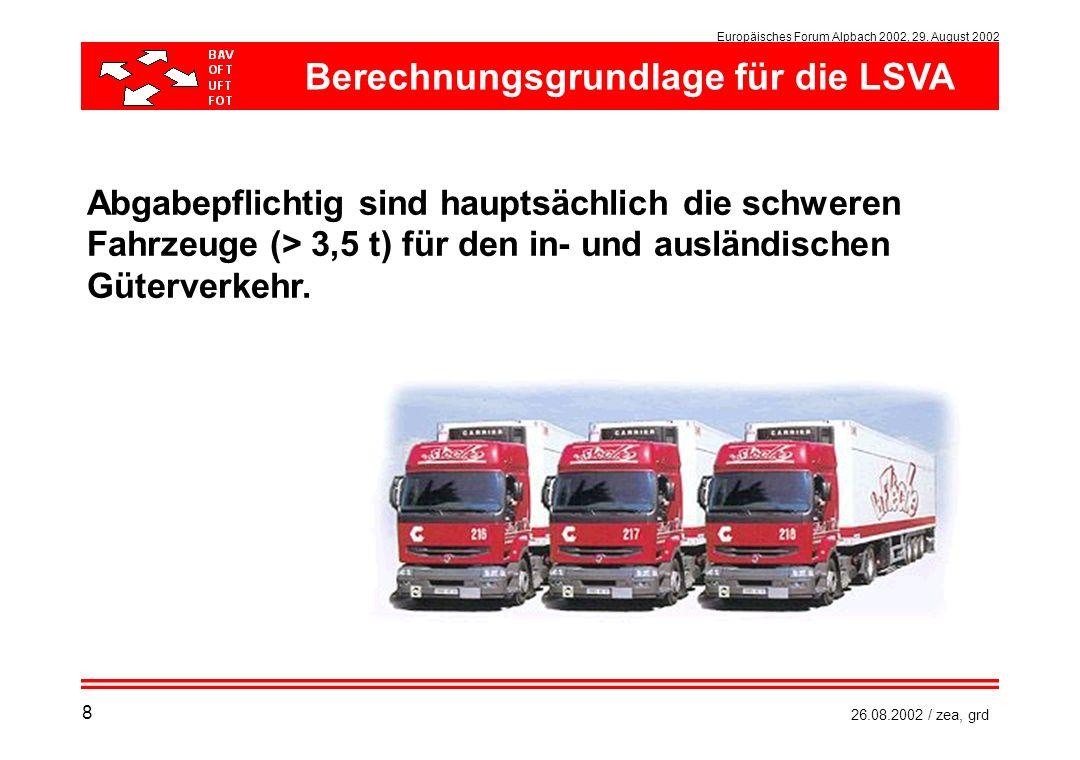 Berechnungsgrundlage für die LSVA