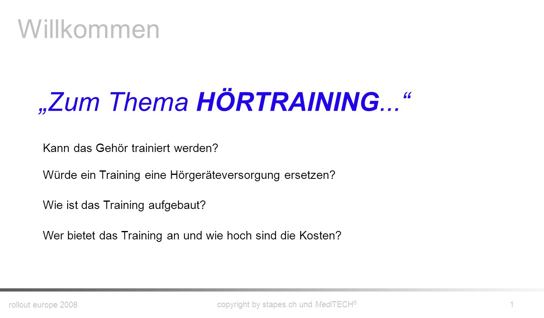 """Zum Thema HÖRTRAINING..."