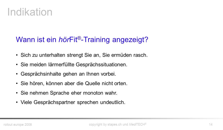 Indikation Wann ist ein hörFit®-Training angezeigt