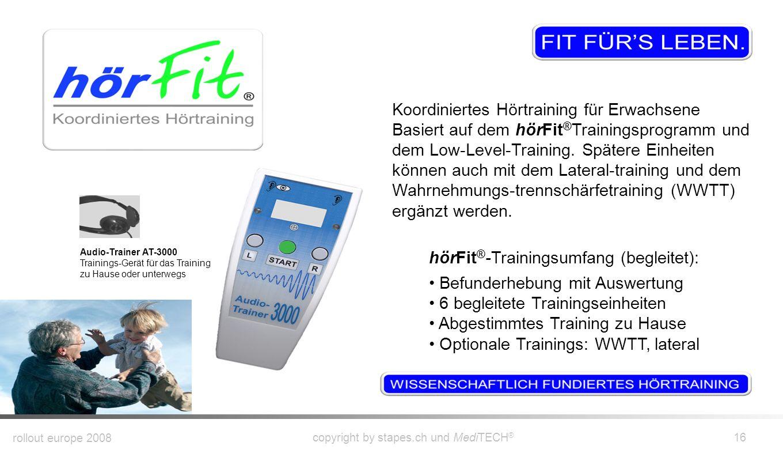hörFit®-Trainingsumfang (begleitet): Befunderhebung mit Auswertung