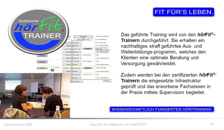 Das geführte Training wird von den hörFit®-Trainern durchgeführt
