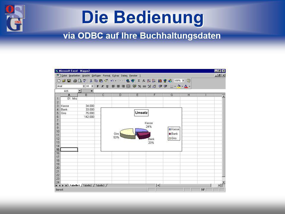 via ODBC auf Ihre Buchhaltungsdaten